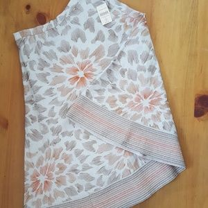 NWT Embroidered Floral Skirt Size Petite 4